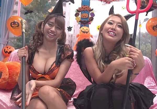 【MM号】渋谷の街でハロウィンギャルをナンパ!エッチな魔法で即ハメダブルピースの痴態!ユルいお股で大乱交の中出しSEX!