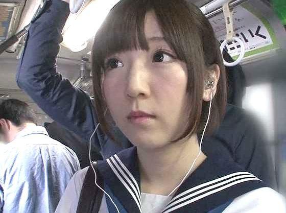 【痴漢】声を出せないバス内で羞恥プレイ!JK制服でチ○ポを求めて絶叫するロリ美少女の痴態!