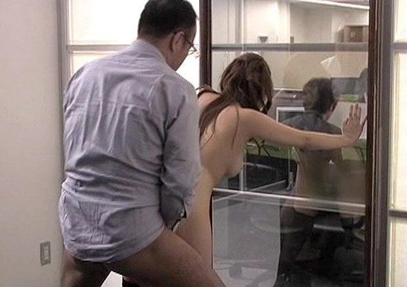 【ながえスタイル】『あぁ社長ッ…もっと突いて…♥』美人受付嬢を社長がセクハラFuck!マジックミラーに隠れて悶絶羞恥!!