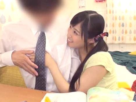 【痴女】『先生ってえっちしたことある?♥』童貞っぽい家庭教師に主観フェラで誘惑&寸止め騎乗位!貧乳おっぱいの小悪魔娘ww