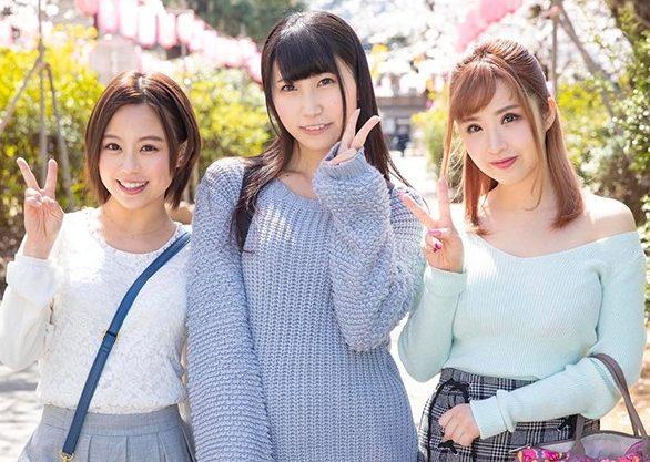 【MM号】『あぁッ、イっちゃうよぉ♥』お花見中の女子大生3人組をナンパ!泥酔ノリでチ○ポ咥えてヤリまくりハーレム状態w
