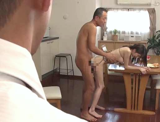 【人妻】『お義父さん、キモチぃ…♥』若妻が義父チ○ポに犯られて性奴隷!緊縛凌辱の不倫NTR、大量射精で孕ませ確定w