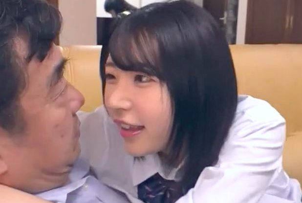 【JK】『パパ、私とえっちしたい?♥』ロリかわ少女が義父を本気誘惑!パイパンマ○コに生挿入⇒激ピスで中出しの近親相姦w
